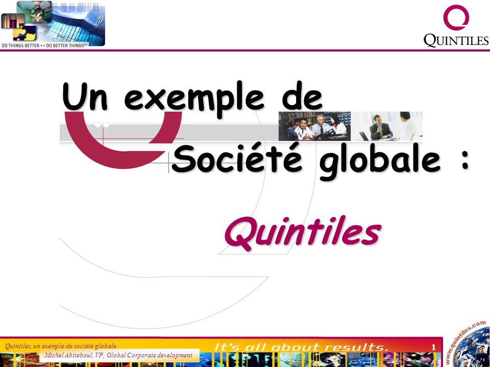 Un exemple de Société globale : Quintiles