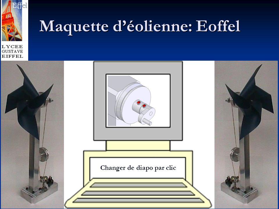 Maquette d'éolienne: Eoffel