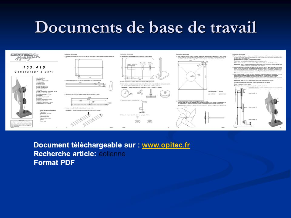 Documents de base de travail