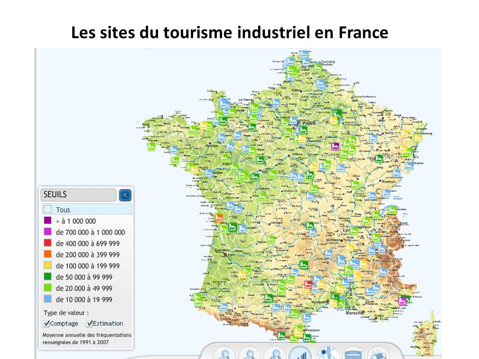 Les sites du tourisme industriel en France