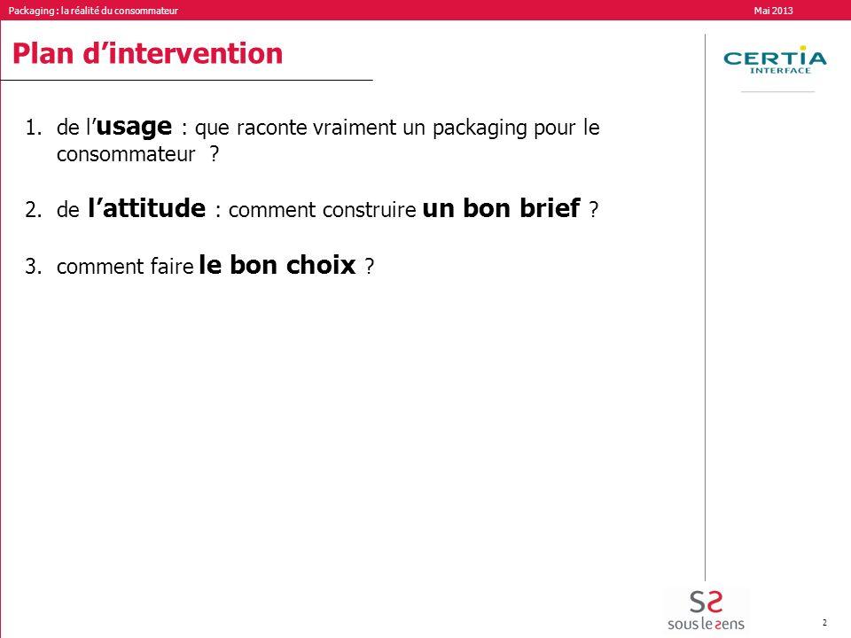Plan d'intervention de l'usage : que raconte vraiment un packaging pour le consommateur de l'attitude : comment construire un bon brief