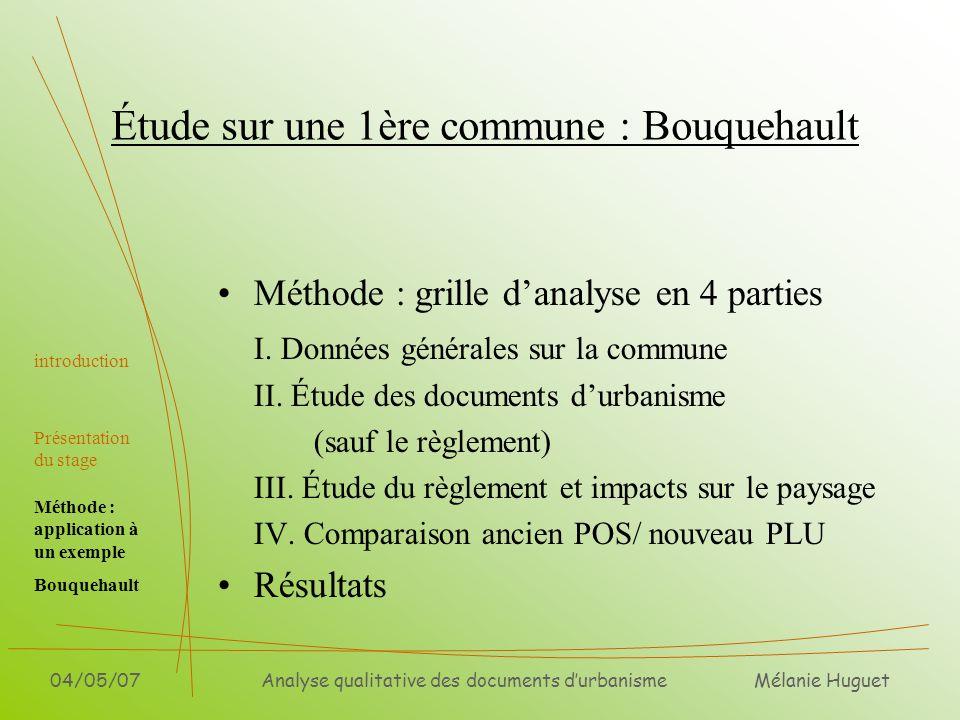 Étude sur une 1ère commune : Bouquehault