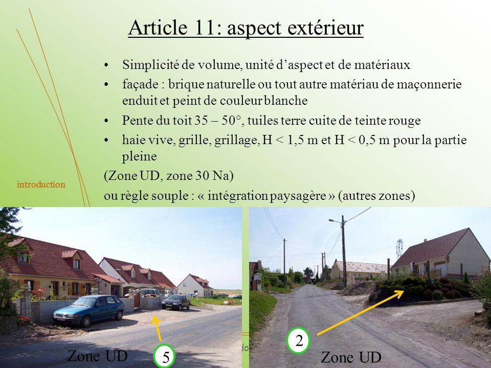 Article 11: aspect extérieur