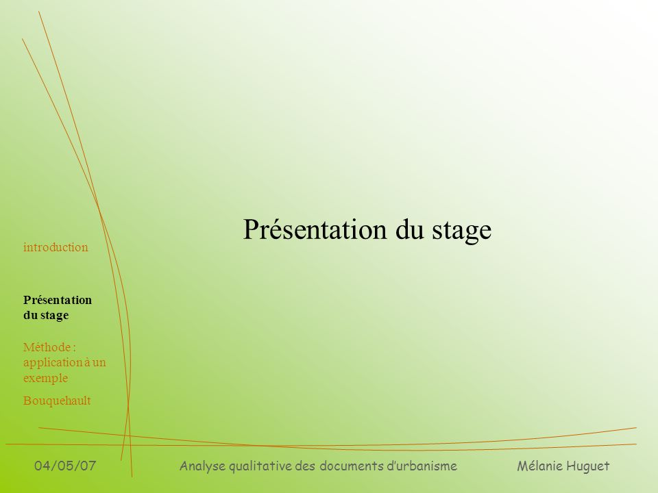 Analyse qualitative des documents d'urbanisme