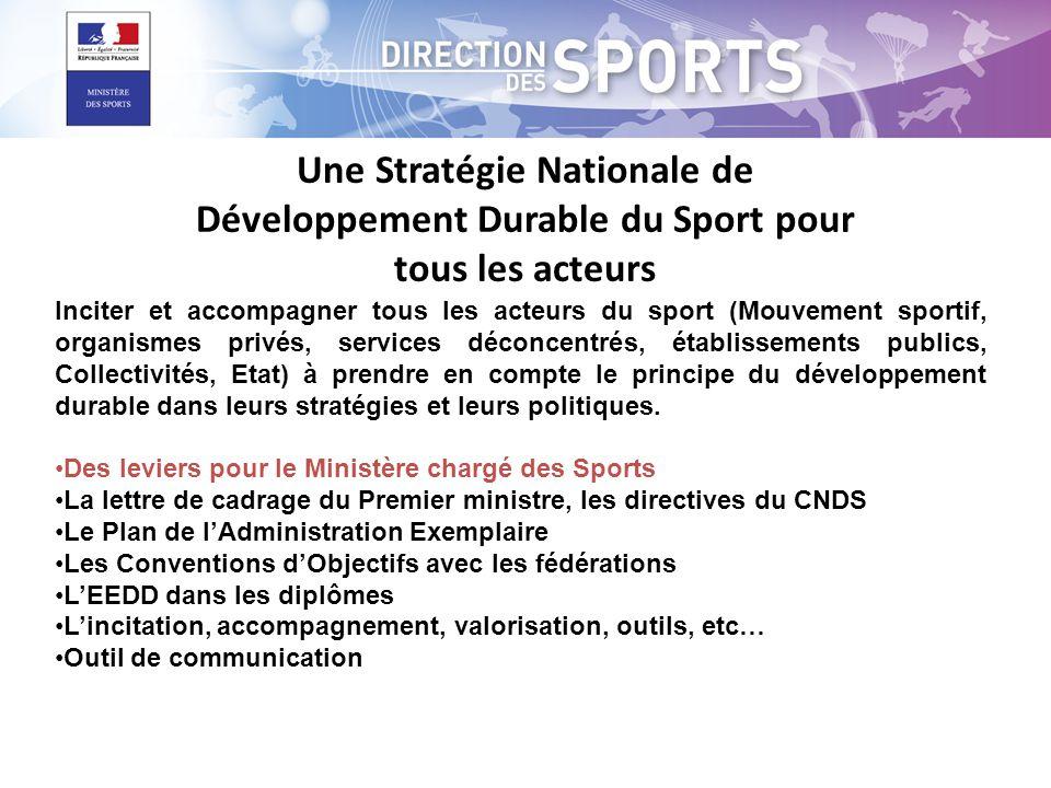 Une Stratégie Nationale de Développement Durable du Sport pour tous les acteurs