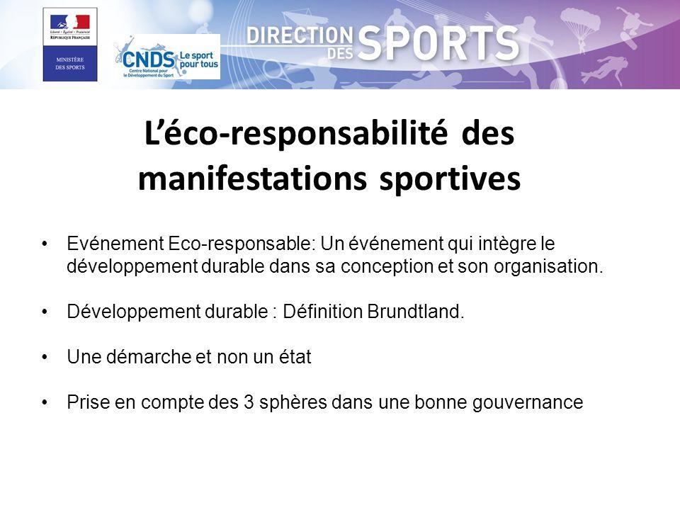 L'éco-responsabilité des manifestations sportives