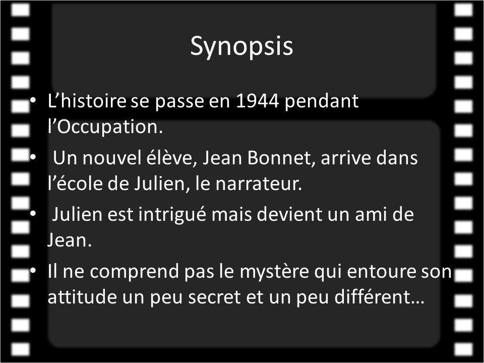 Synopsis L'histoire se passe en 1944 pendant l'Occupation.