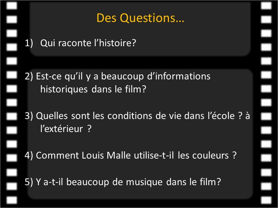Des Questions… Qui raconte l'histoire