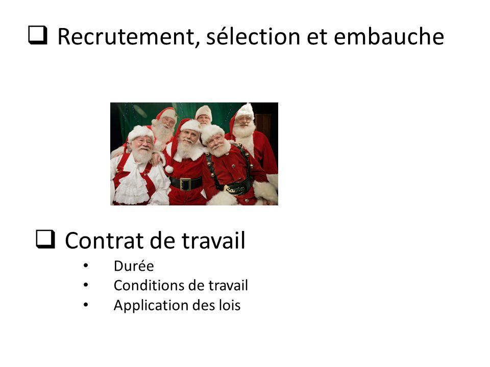 Recrutement, sélection et embauche