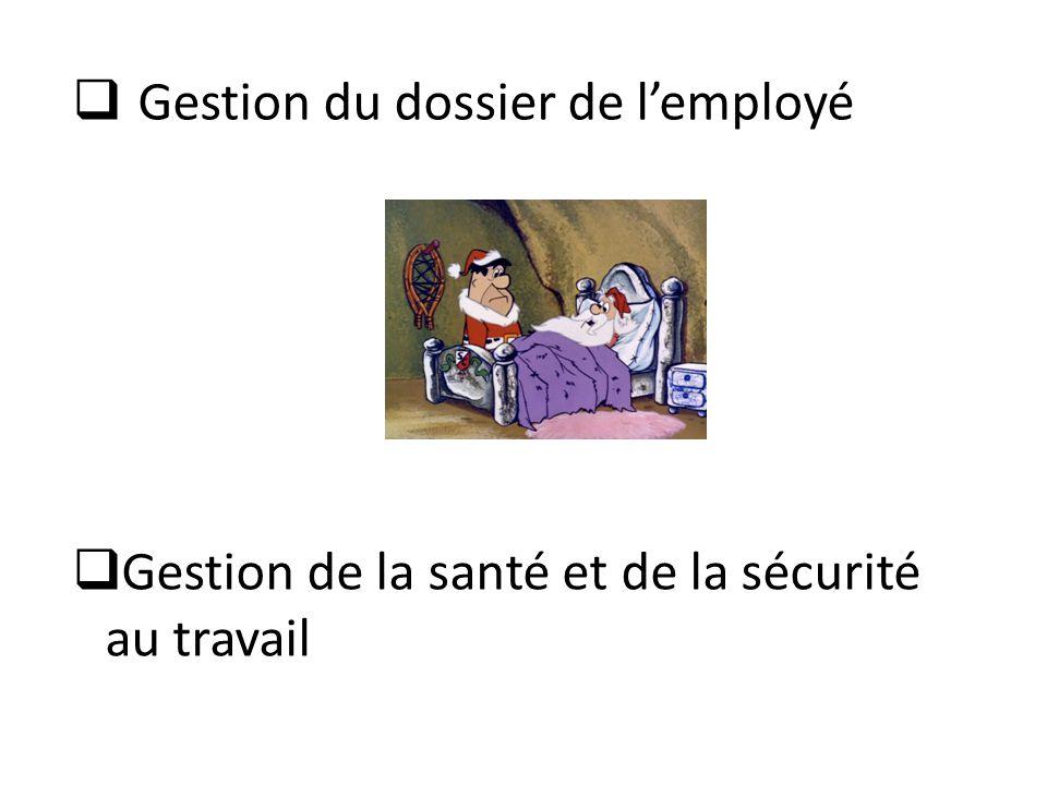 Gestion du dossier de l'employé