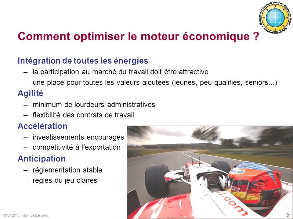 Comment optimiser le moteur économique