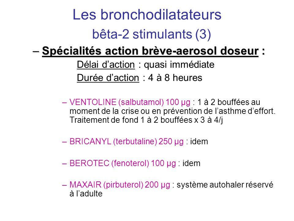 Les bronchodilatateurs bêta-2 stimulants (3)