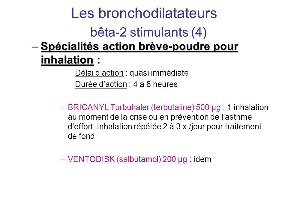 Les bronchodilatateurs bêta-2 stimulants (4)