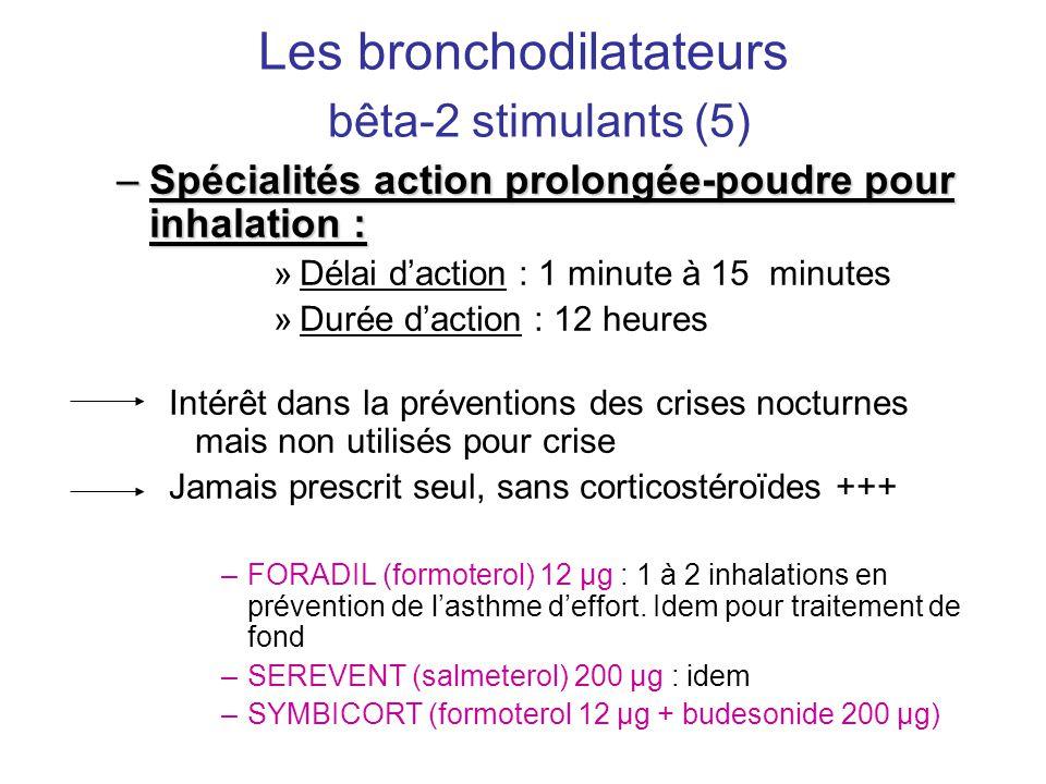 Les bronchodilatateurs bêta-2 stimulants (5)