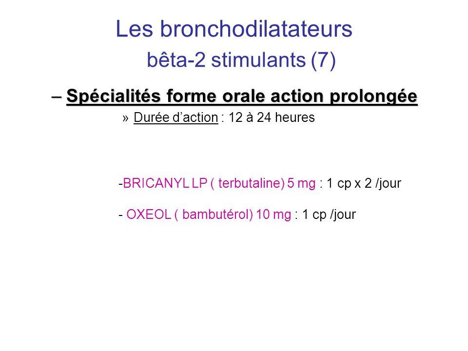 Les bronchodilatateurs bêta-2 stimulants (7)