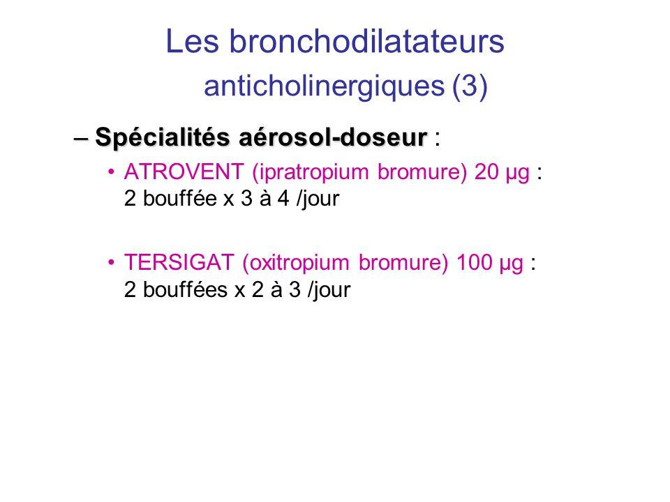 Les bronchodilatateurs anticholinergiques (3)