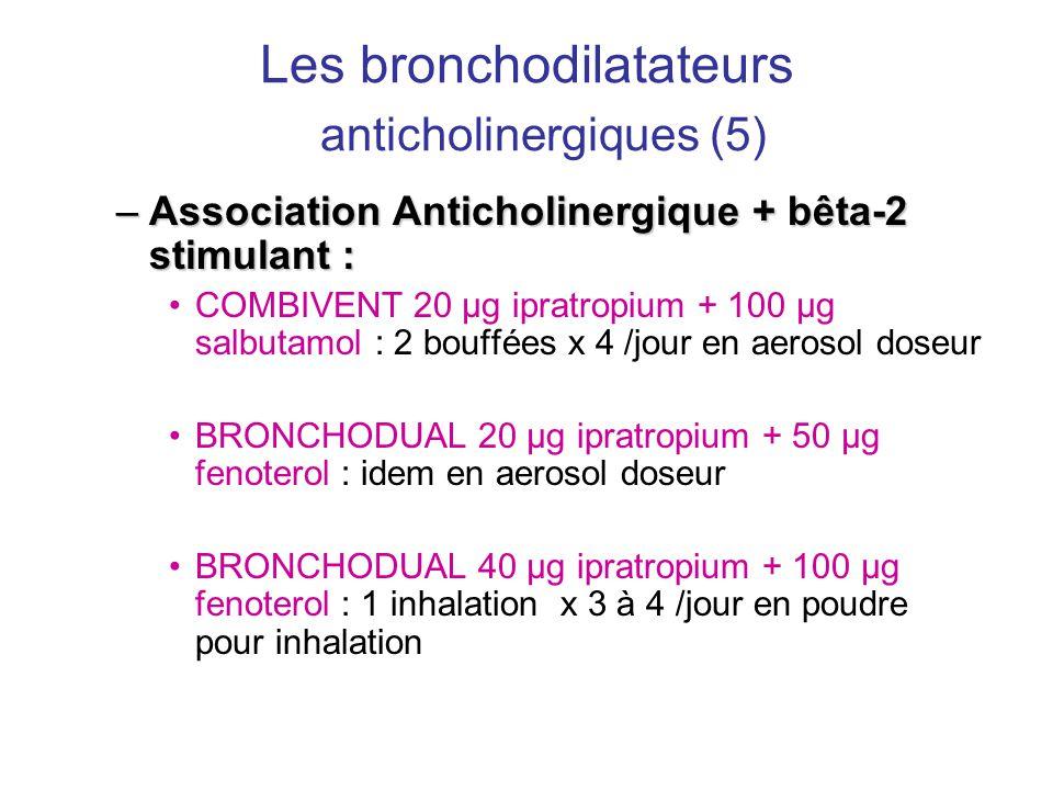 Les bronchodilatateurs anticholinergiques (5)