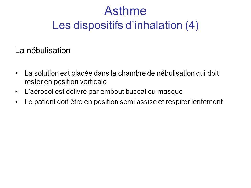 Asthme Les dispositifs d'inhalation (4)