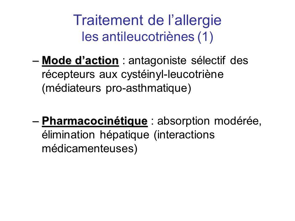 Traitement de l'allergie les antileucotriènes (1)