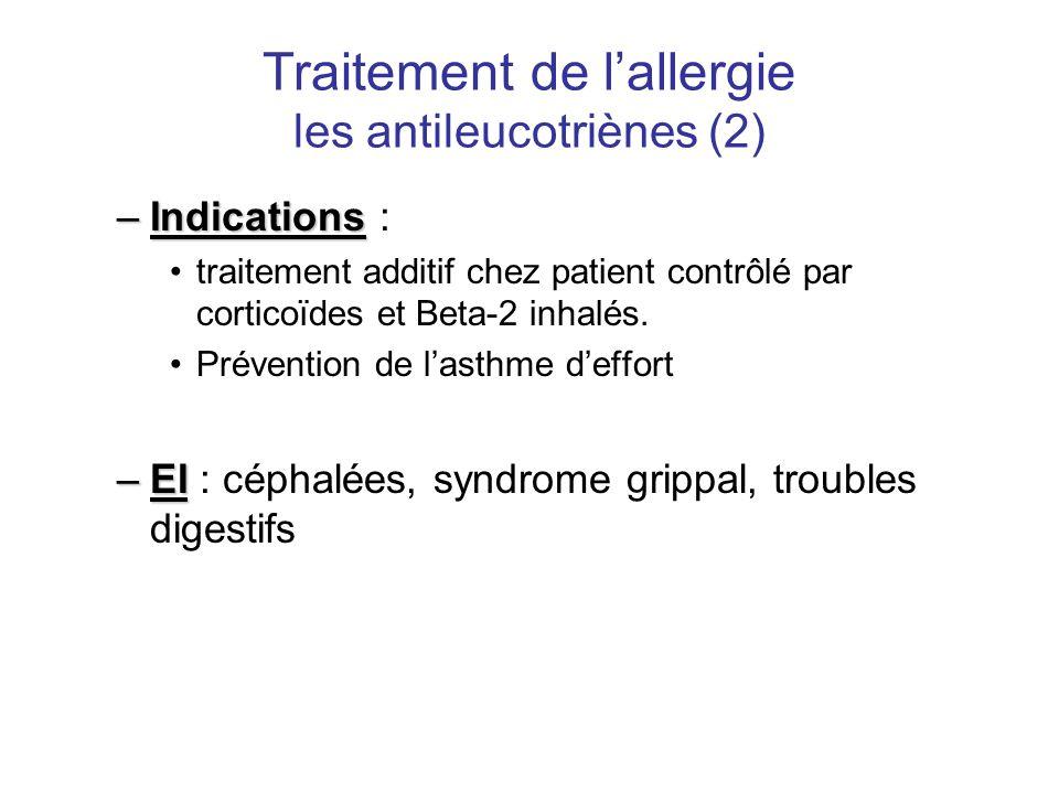 Traitement de l'allergie les antileucotriènes (2)