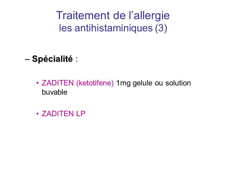 Traitement de l'allergie les antihistaminiques (3)