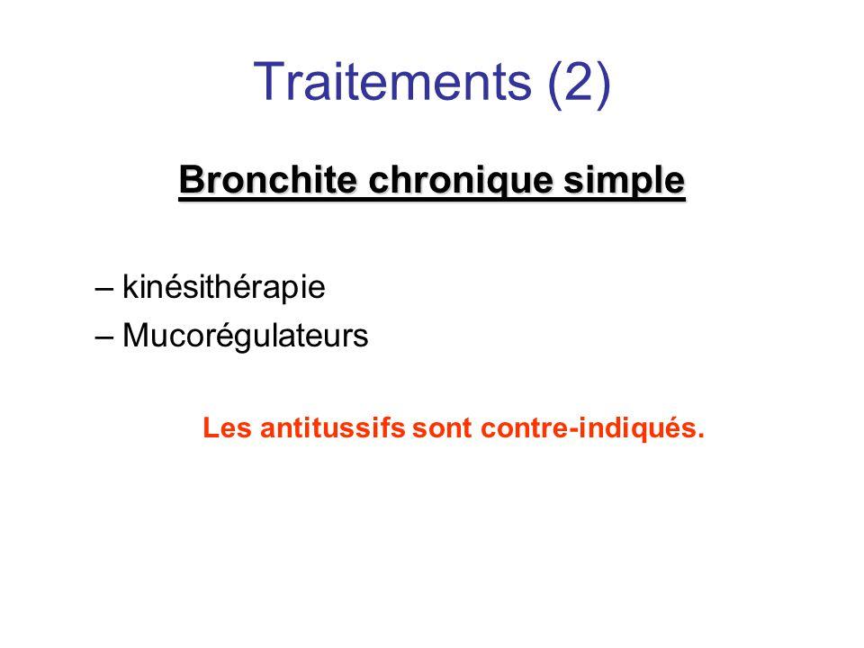 Traitements (2) Bronchite chronique simple kinésithérapie