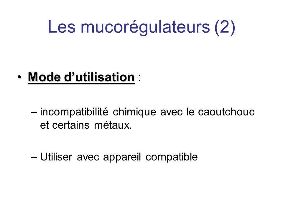 Les mucorégulateurs (2)