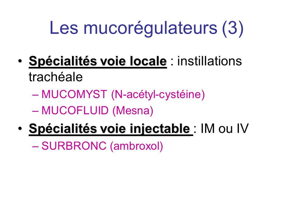 Les mucorégulateurs (3)