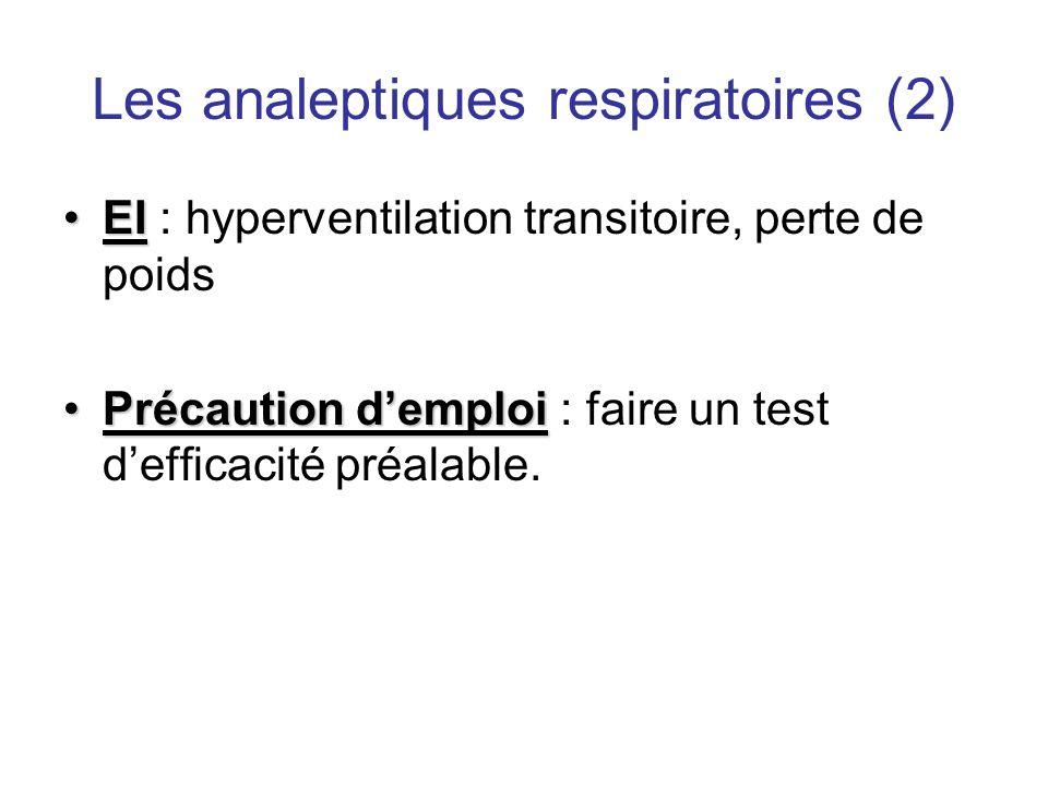Les analeptiques respiratoires (2)