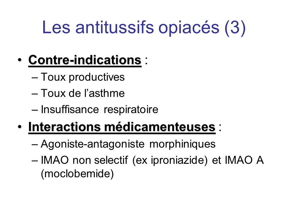 Les antitussifs opiacés (3)
