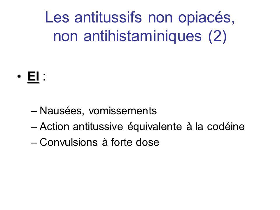 Les antitussifs non opiacés, non antihistaminiques (2)