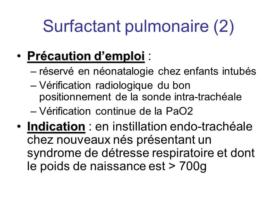 Surfactant pulmonaire (2)