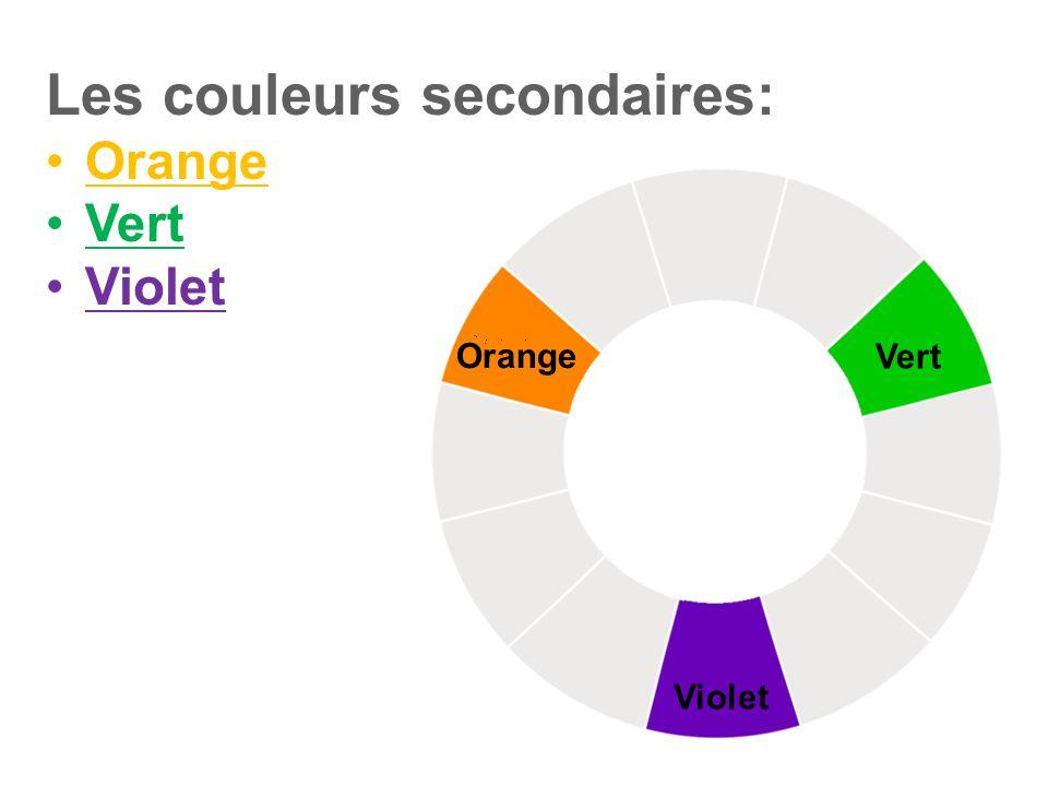 Les couleurs secondaires: