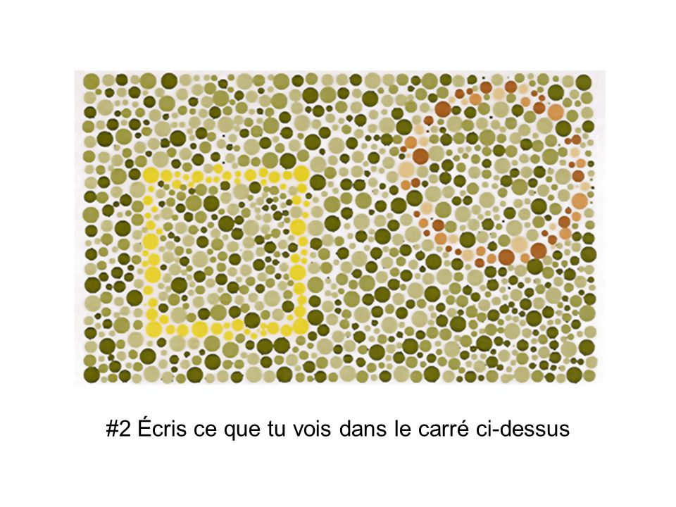 #2 Écris ce que tu vois dans le carré ci-dessus