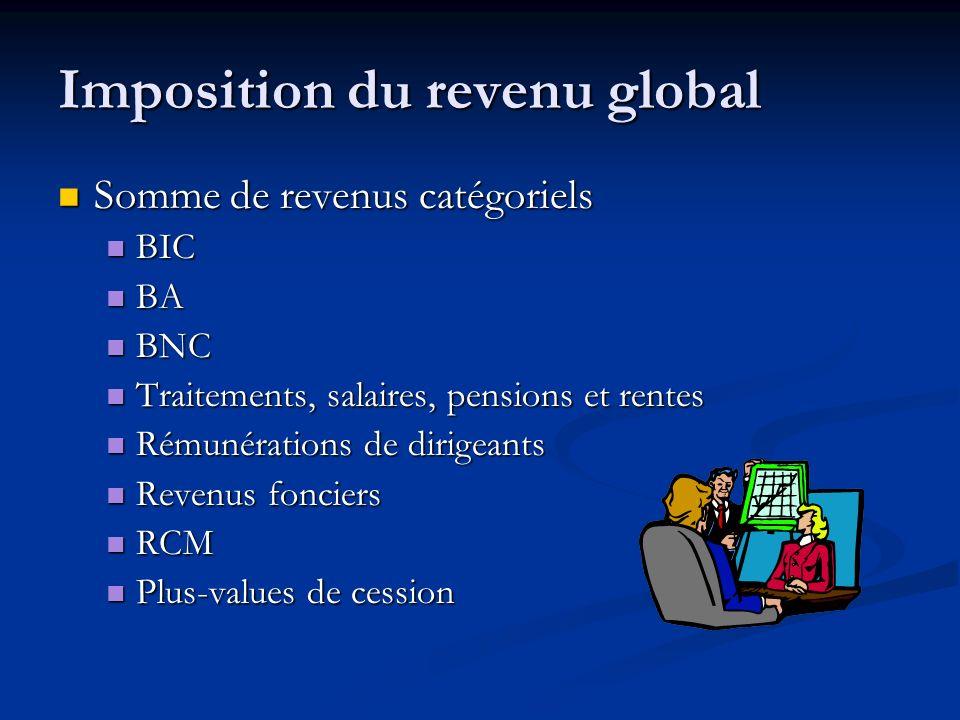 Imposition du revenu global