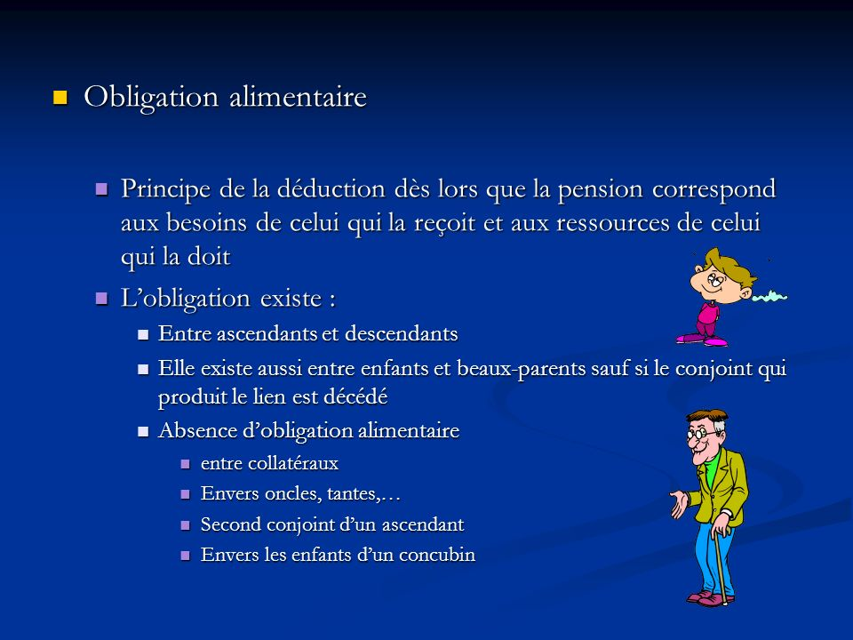 Obligation alimentaire