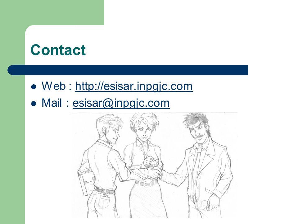 Contact Web : http://esisar.inpgjc.com Mail : esisar@inpgjc.com