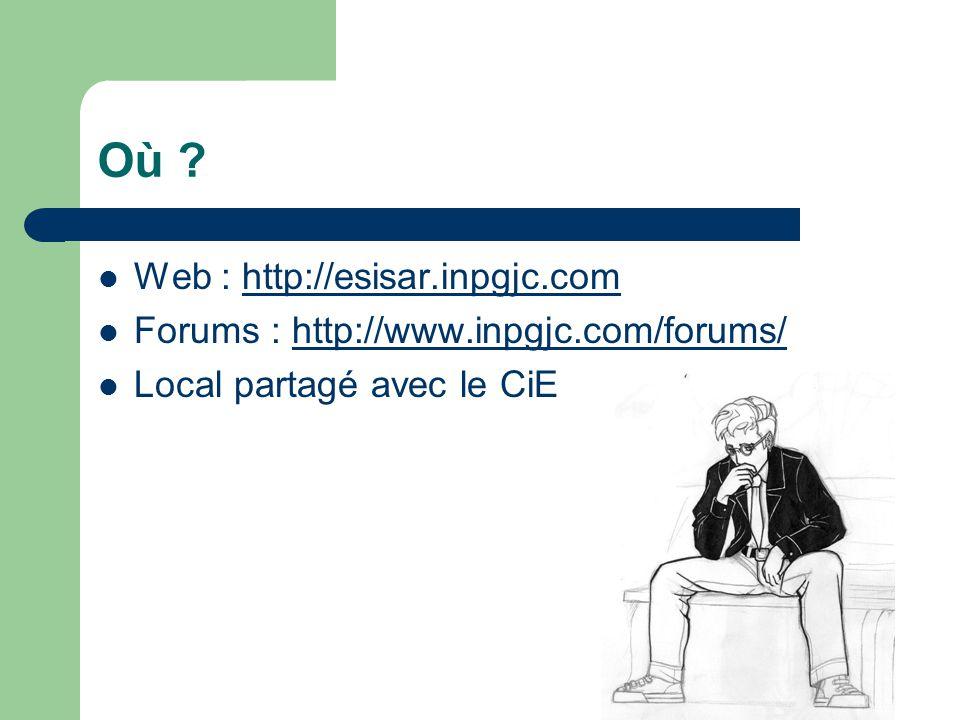 Où Web : http://esisar.inpgjc.com