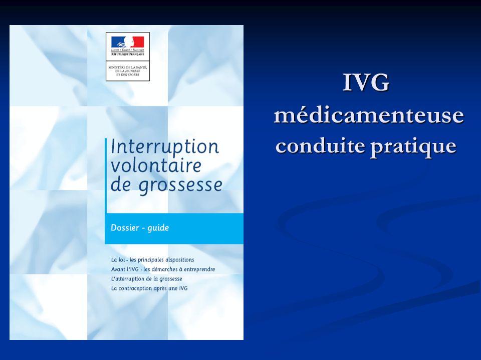 IVG médicamenteuse conduite pratique