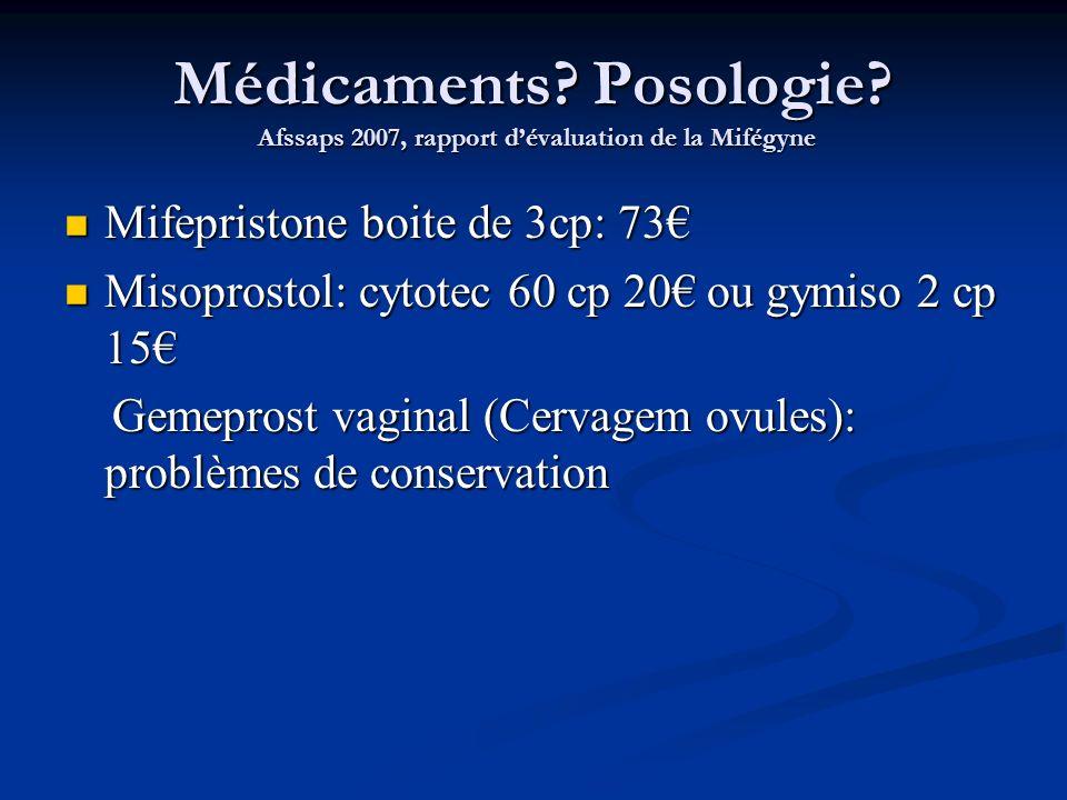 Médicaments. Posologie