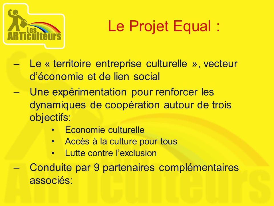 Le Projet Equal :Le « territoire entreprise culturelle », vecteur d'économie et de lien social.