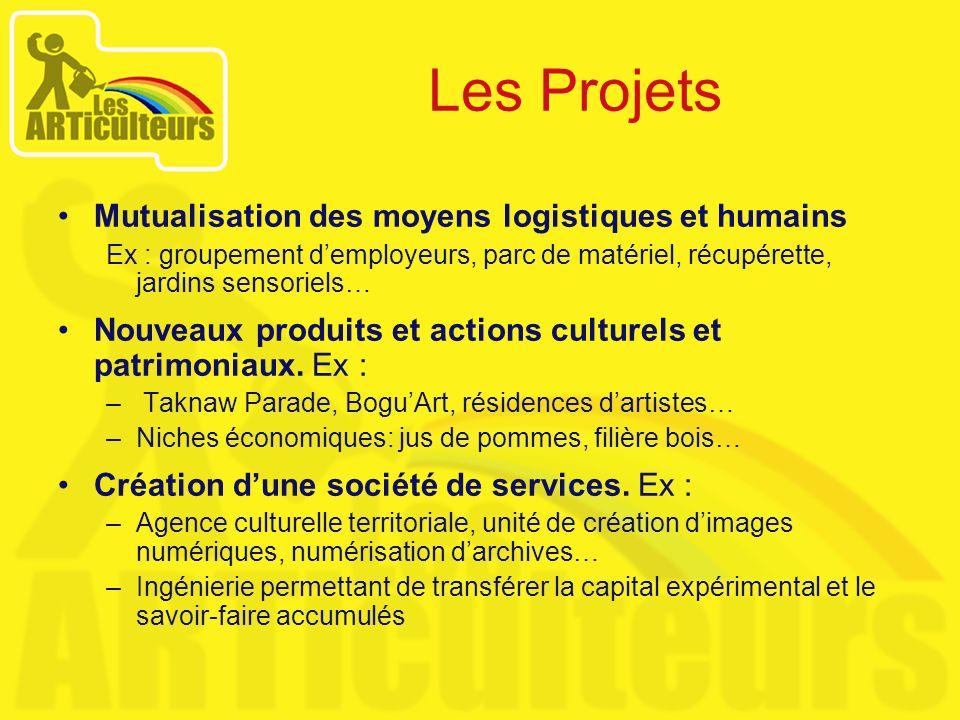 Les Projets Mutualisation des moyens logistiques et humains