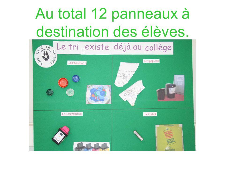 Au total 12 panneaux à destination des élèves.