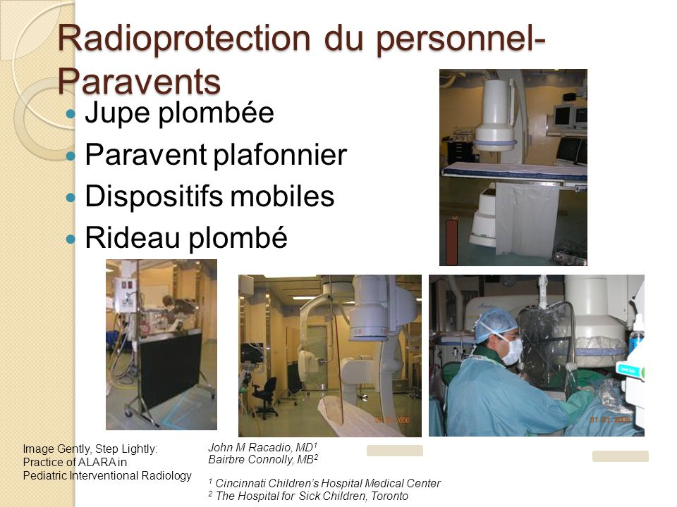 Radioprotection du personnel- Paravents