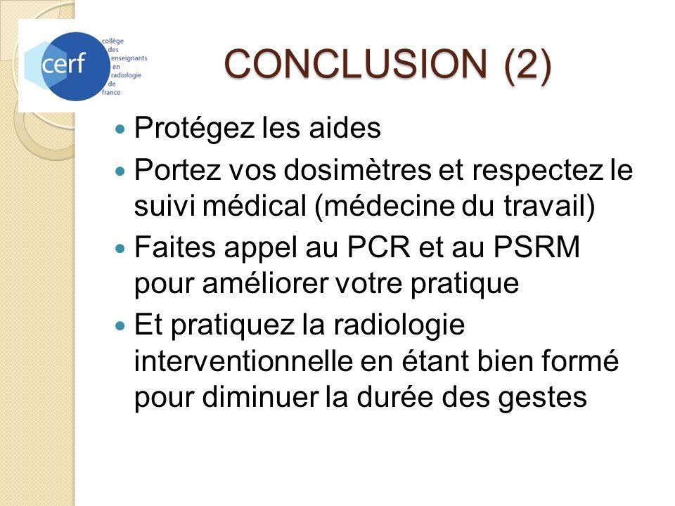 CONCLUSION (2) Protégez les aides