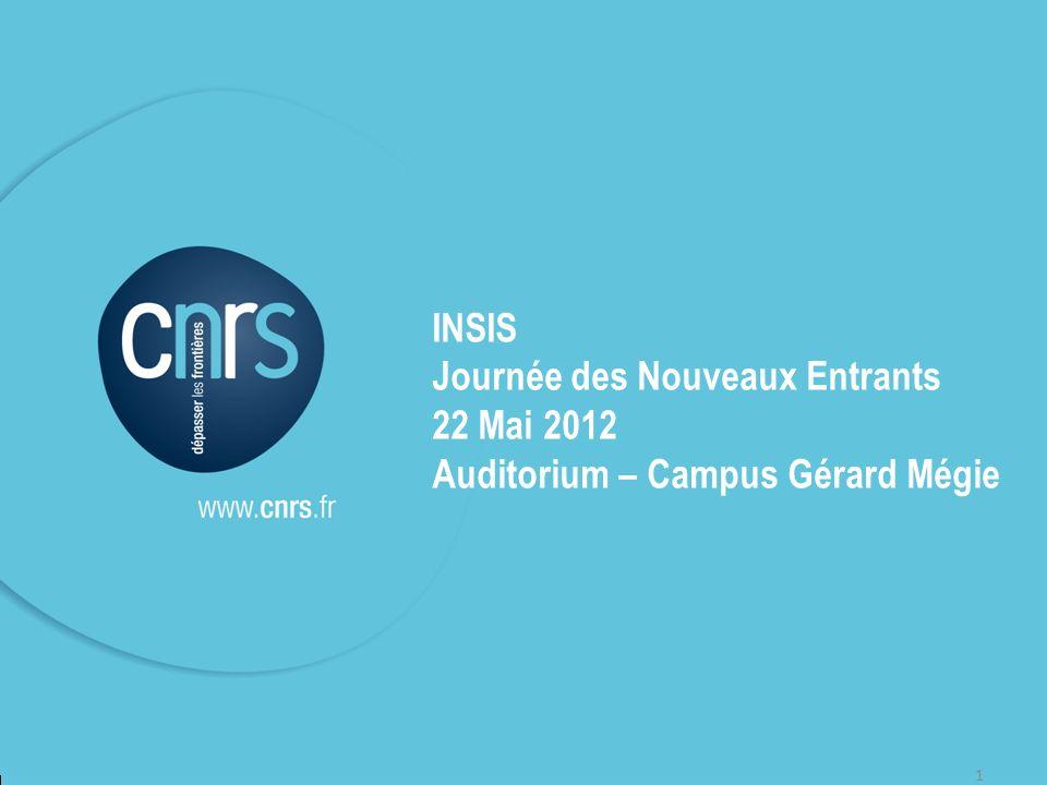 Journée des Nouveaux Entrants 22 Mai 2012
