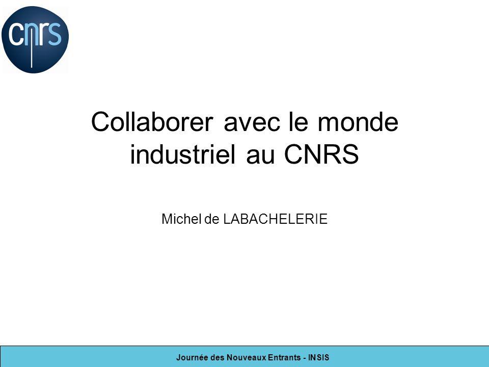 Collaborer avec le monde industriel au CNRS