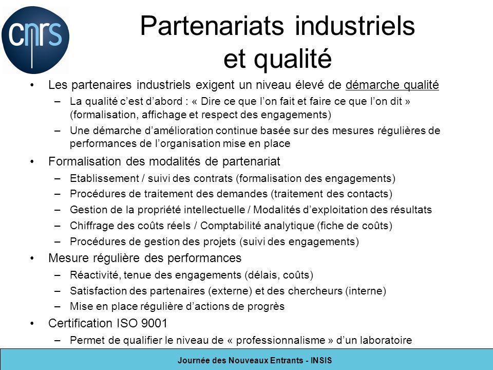 Partenariats industriels et qualité