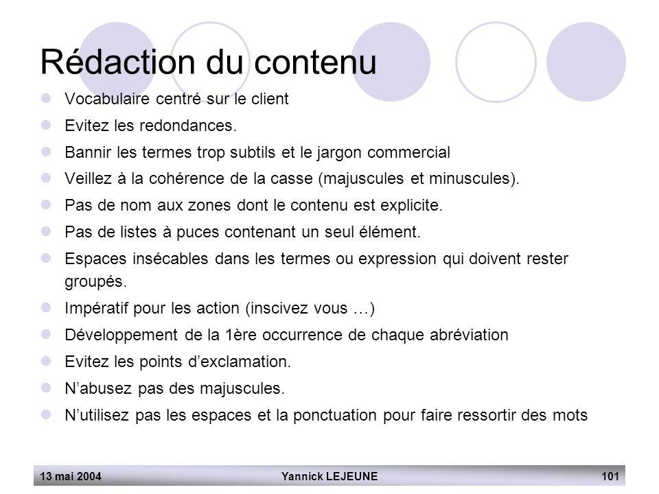 Rédaction du contenu Vocabulaire centré sur le client