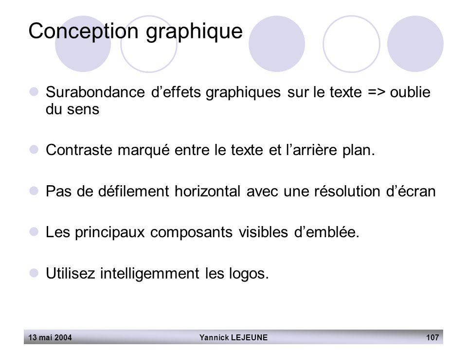 Conception graphique Surabondance d'effets graphiques sur le texte => oublie du sens. Contraste marqué entre le texte et l'arrière plan.